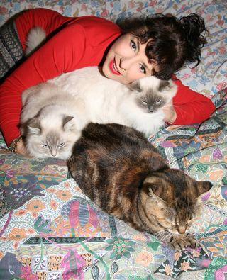 Con Odette  Selene e Penelope