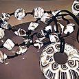 Le conchiglie portafortuna Occhio di Venere  hanno ispirato la  collana con donut ed il relativo anello a forma di gatto con occhi Swarovski. Sono pezzi unici di Stregapeperina Creazion (3)