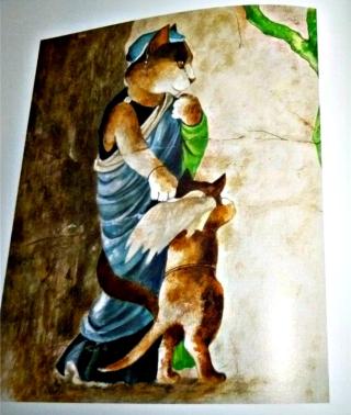 Fresque romaine l siècle apr, JC -Vénus punissant Cupidon