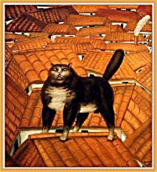 2 botero-gatto sui tetti