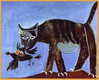 8 picasso-gatto con uccello ferito