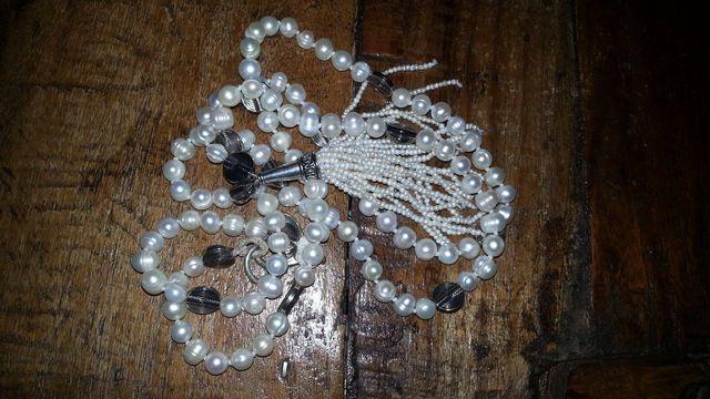 Maala tibetano di perle di fiume