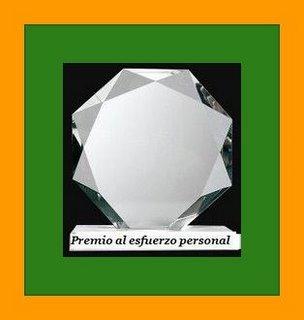 """Premio""""sforzo personale"""" assegnatomi da Maria Rosa e lNon*Mi*A"""
